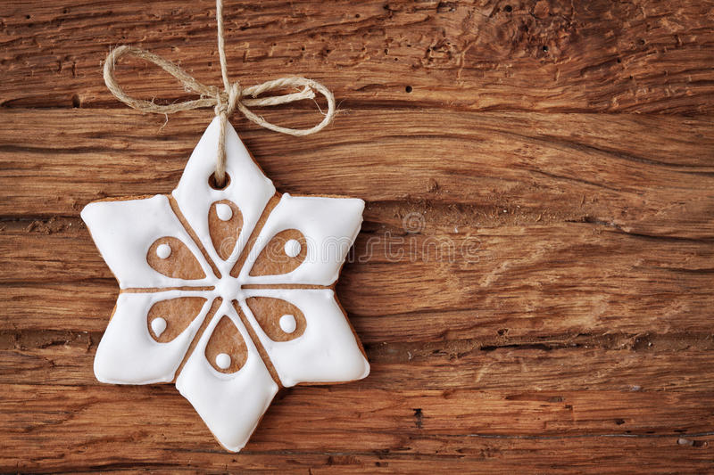 Gingerbread Snowflake Stock Photography