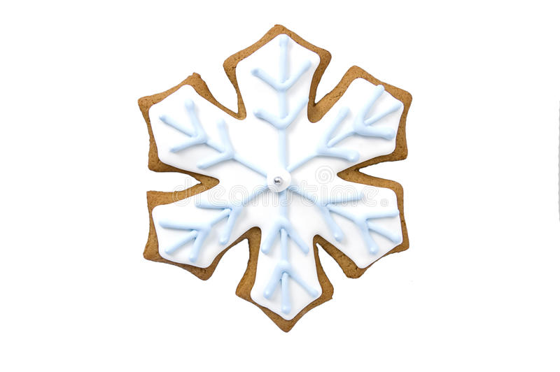 Gingerbread Snowflake Cookie Stock Photo