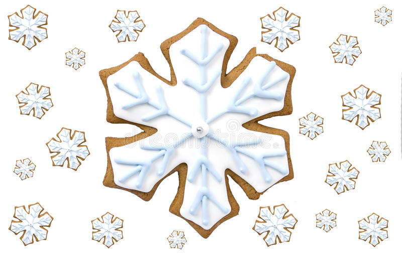 Download Gingerbread Snowflake Cookie Stock Photo - Image: 22281304