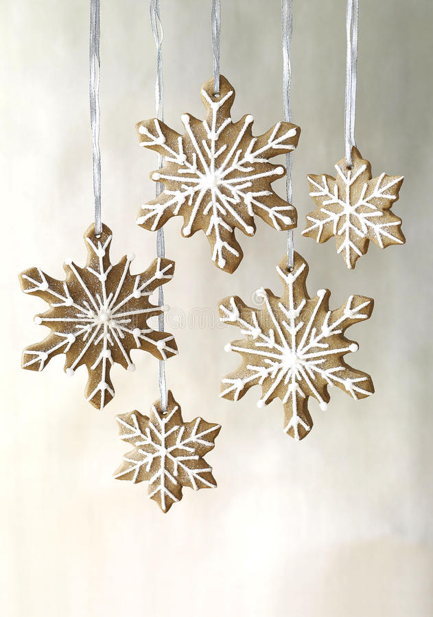 Download Gingerbread Snowflakes Cookies Stock Photo - Image: 11749110