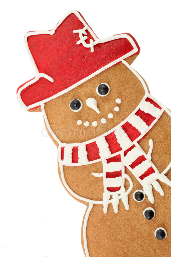 Gingerbread snowman royalty free stock images