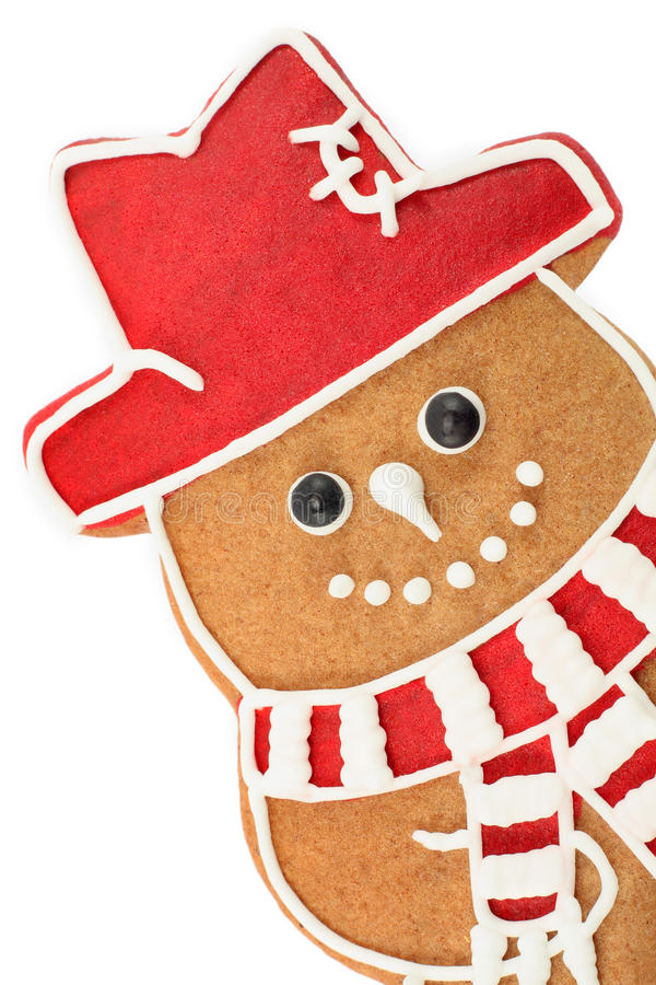 Gingerbread snowman royalty free stock photography