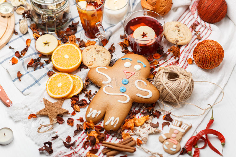 Gingerbread and species stock photos