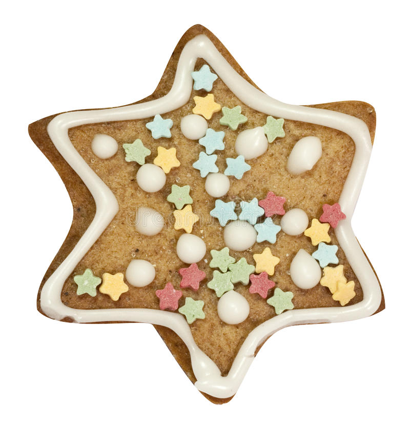 Download Gingerbread Star With Clipping Path Stock Photo - Image: 17044456