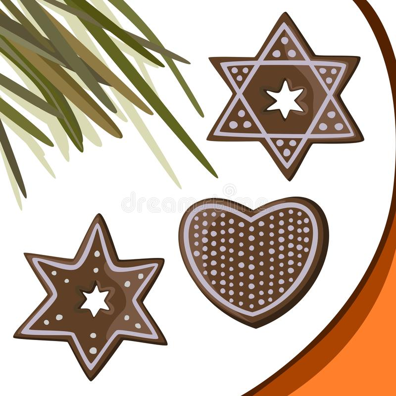 Download Gingerbread Stars, Heart Royalty Free Stock Photo - Image: 17910265