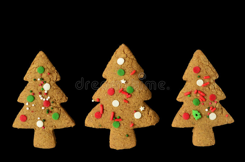 Download Gingerbread tree cookies stock image. Image of sprinkles - 36336355