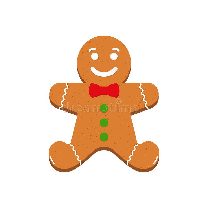 Gingerbread - Vector Illustration - Isolated On White Background.  royalty free illustration