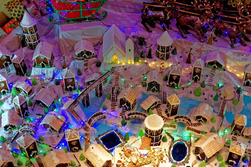 Gingerbread Village royalty free stock images