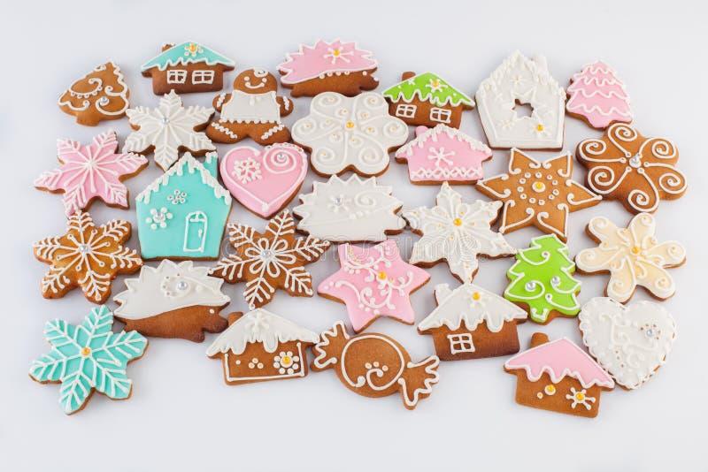 Gingerbread on white backround stock photo