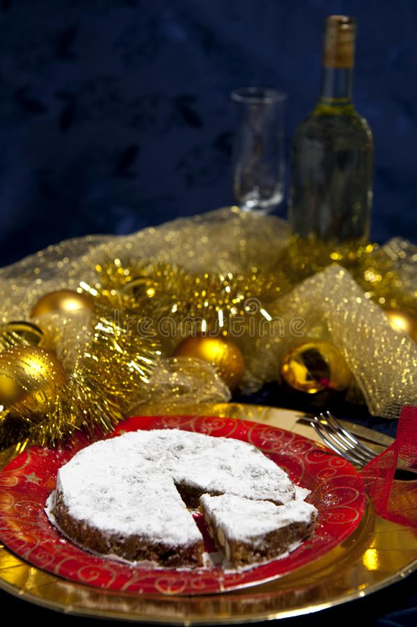 Download Gingerbread and white wine stock image. Image of nuts - 17384319