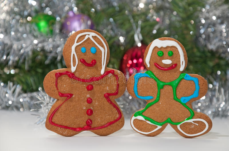 Gingerbreadman和妇女藏品现有量 图库摄影