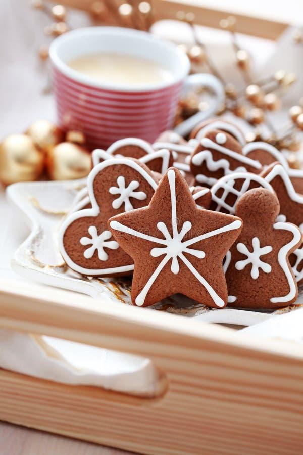 gingerbreads кофе стоковое изображение rf