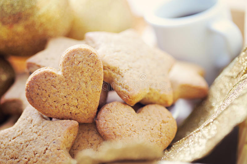 Download Gingerbreads with coffee stock photo. Image of dessert - 28025198