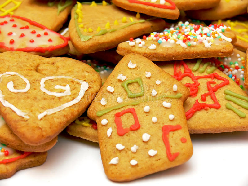 Gingerbreads - house royalty free stock image