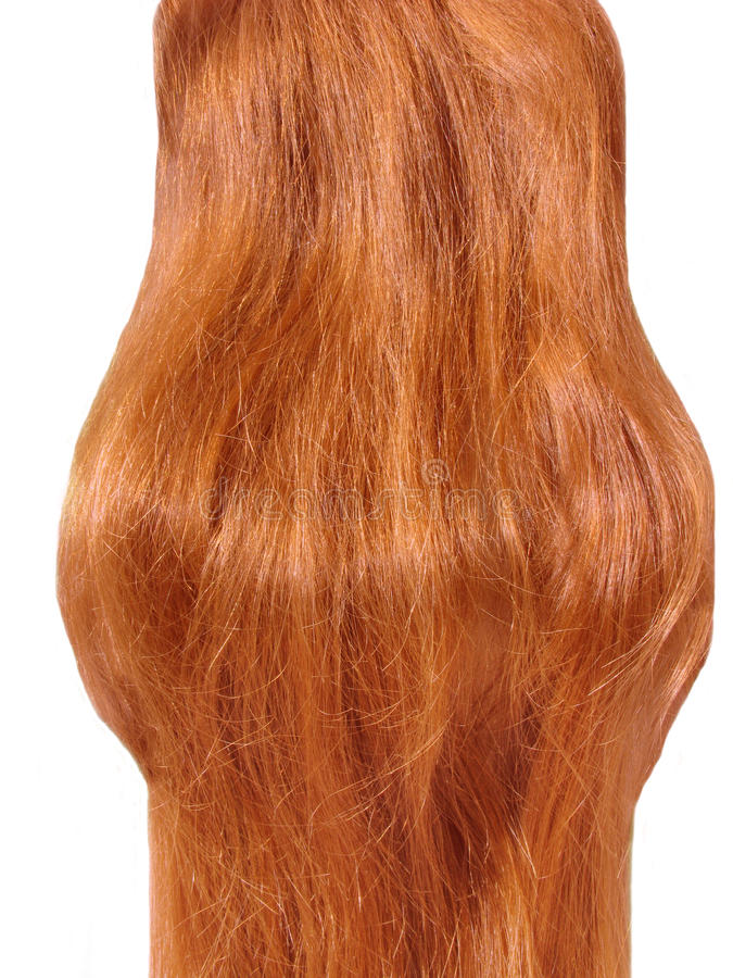 Gingery-farbiges Haar stockfotos