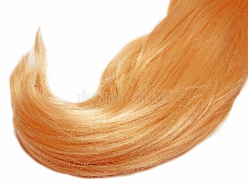 Gingery Haarwelle lizenzfreies stockfoto