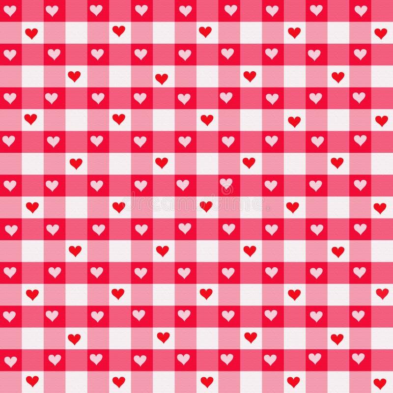 gingham καρδιά απεικόνιση αποθεμάτων