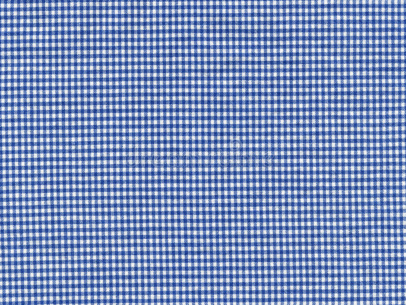 Gingham. Blue and white check gingham cotton material royalty free stock photos