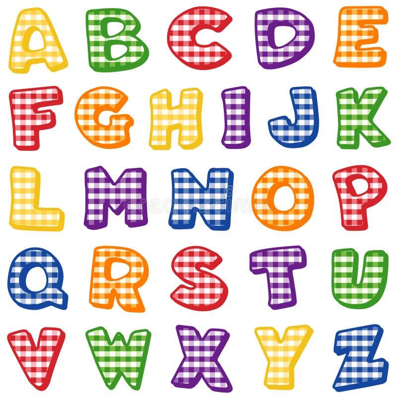 Gingham Alphabet Stock Photo