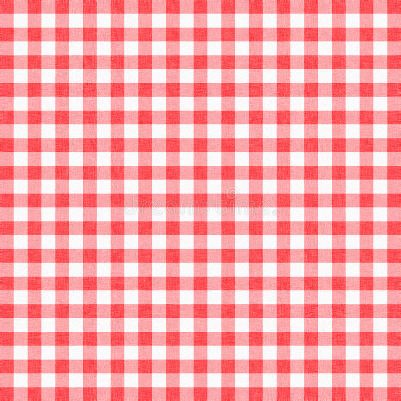 Gingham background. Red gingham tablecloth background or texture stock photo