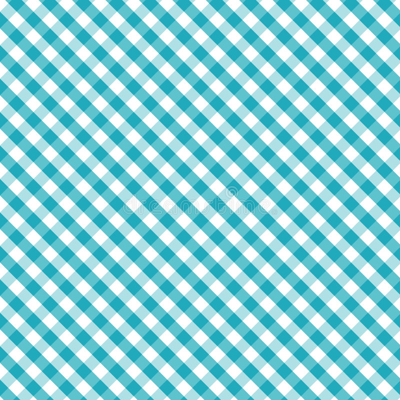 Free Gingham Cross Weave, Aqua, Seamless Background Royalty Free Stock Image - 6691516