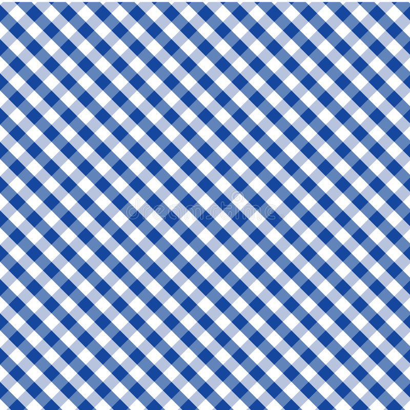 Gingham Cross Weave, Blue, Seamless Background stock illustration