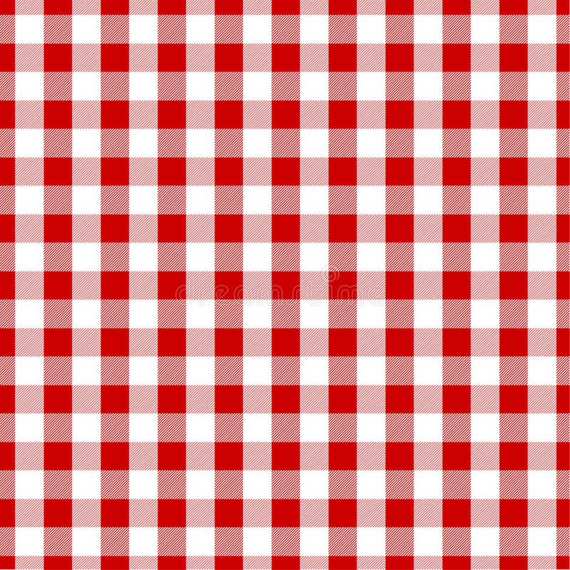 Gingham fabric vector illustration