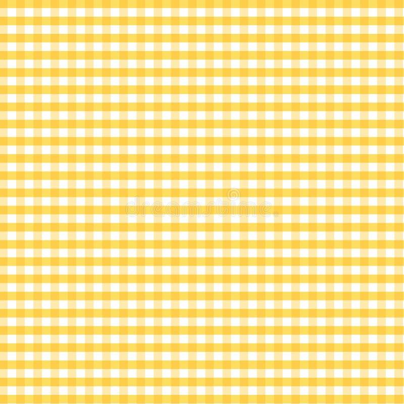 gingham golden seamless yellow иллюстрация штока