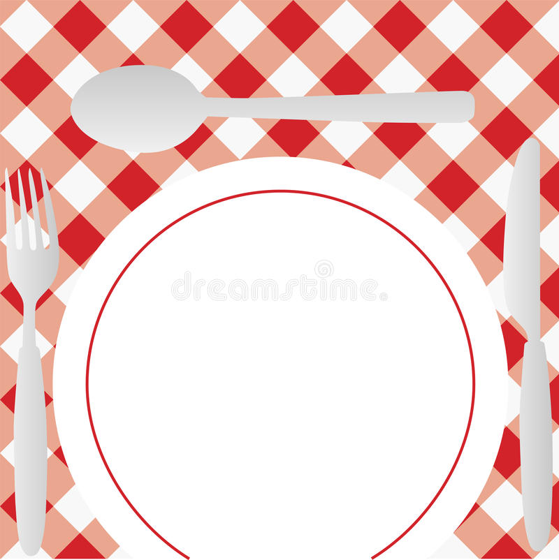 Download Gingham Menu Card stock vector. Illustration of checked - 14816767