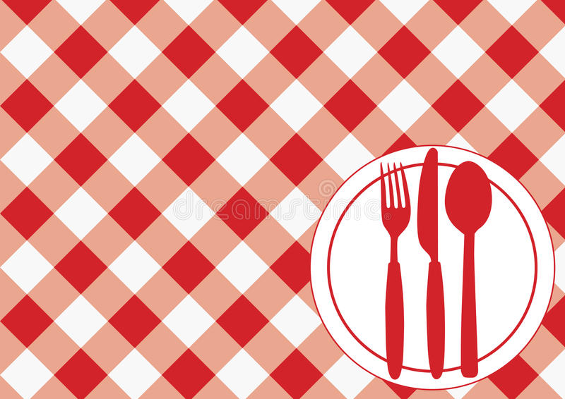 Download Gingham Menu Card Stock Photo - Image: 14816830