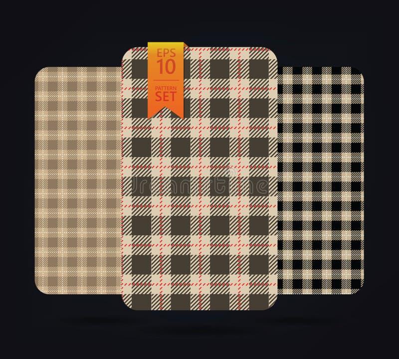Gingham-Muster und Büffelkontrollplaidmuster lizenzfreies stockbild