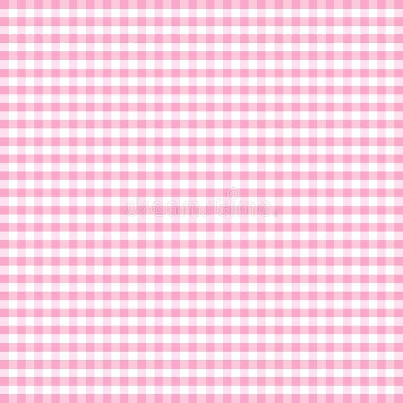 gingham pastel pink seamless 库存例证