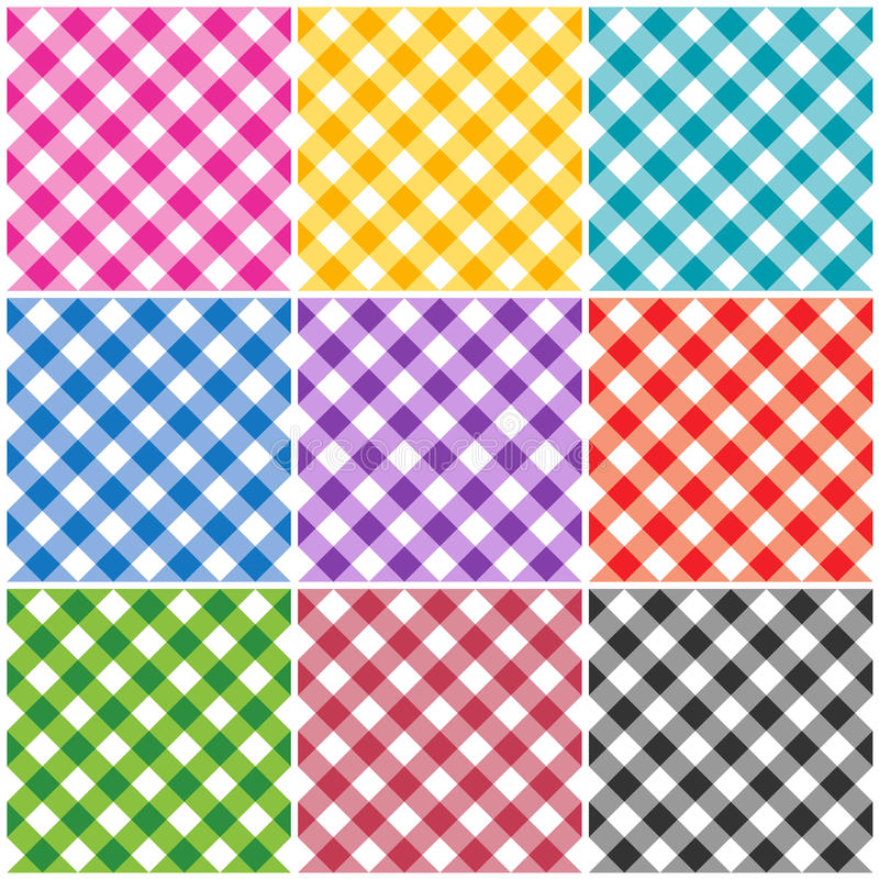 Free Gingham Patterns Royalty Free Stock Images - 25354719