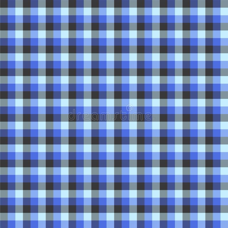 Gingham seamless blue pattern. Texture for plaid, tablecloths, clothes, shirts,dresses,paper,bedding,blankets,quilts and other. Textile products. Vector vector illustration