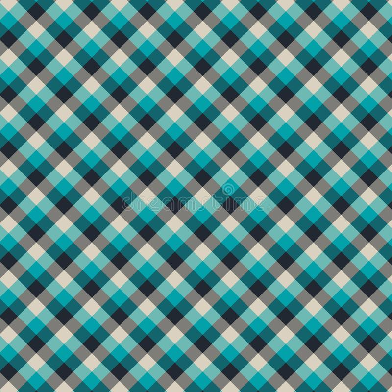 Gingham seamless cyan and black pattern. Texture for plaid, tablecloths, clothes, shirts,dresses,paper,bedding,blankets,quilts and. Other textile products vector illustration