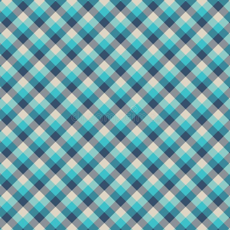 Gingham seamless cyan pattern. Texture for plaid, tablecloths, clothes, shirts,dresses,paper,bedding,blankets,quilts and other. Textile products. Vector vector illustration