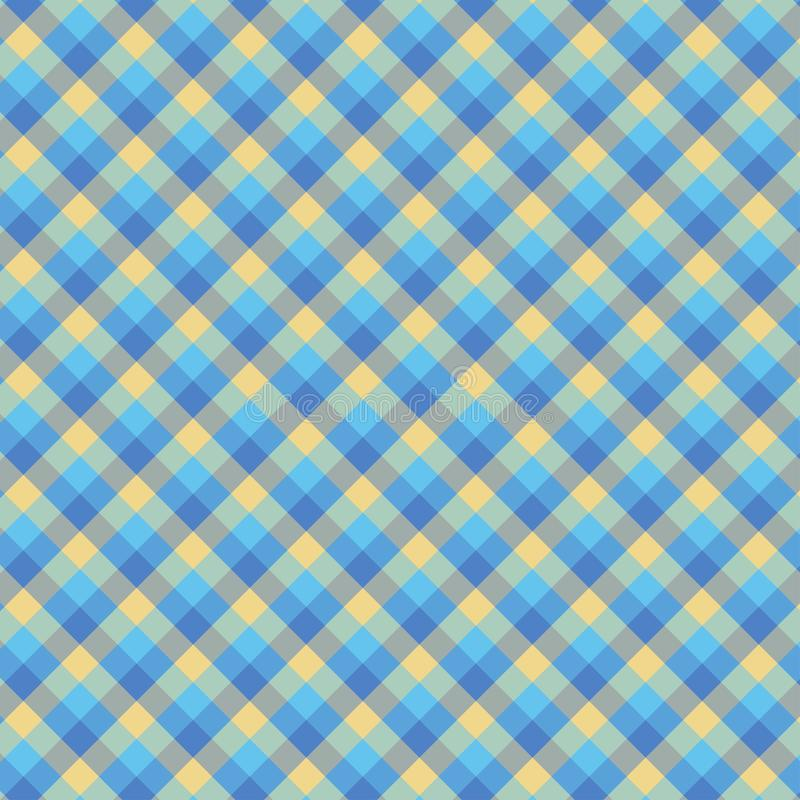 Gingham seamless cyan pattern. Texture for plaid, tablecloths, clothes, shirts,dresses,paper,bedding,blankets,quilts and other. Textile products. Vector royalty free illustration