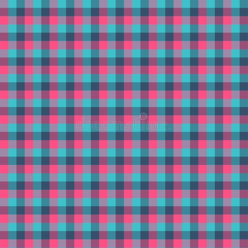 Gingham seamless cyan and red pattern. Texture for plaid, tablecloths, clothes, shirts,dresses,paper,bedding,blankets,quilts and. Other textile products. Vector vector illustration
