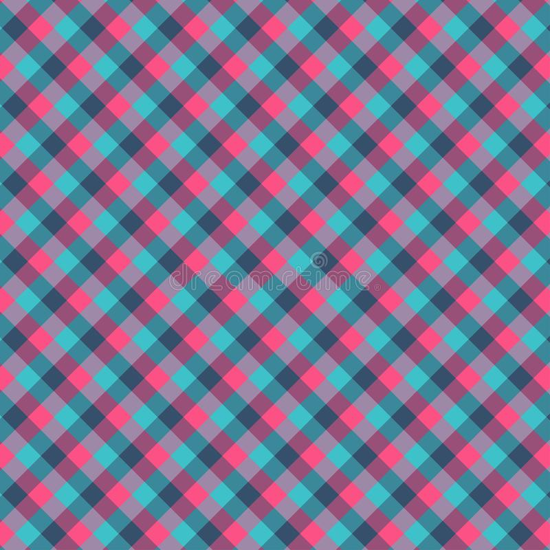 Gingham seamless cyan and red pattern. Texture for plaid, tablecloths, clothes, shirts,dresses,paper,bedding,blankets,quilts and. Other textile products. Vector stock illustration