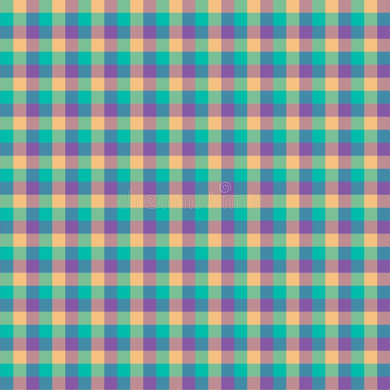 Gingham seamless cyan and violet pattern. Texture for plaid, tablecloths, clothes, shirts,dresses,paper,bedding,blankets,quilts. And other textile products royalty free illustration