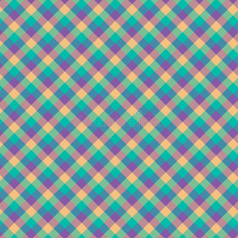 Gingham seamless cyan and violet pattern. Texture for plaid, tablecloths, clothes, shirts,dresses,paper,bedding,blankets,quilts. And other textile products vector illustration