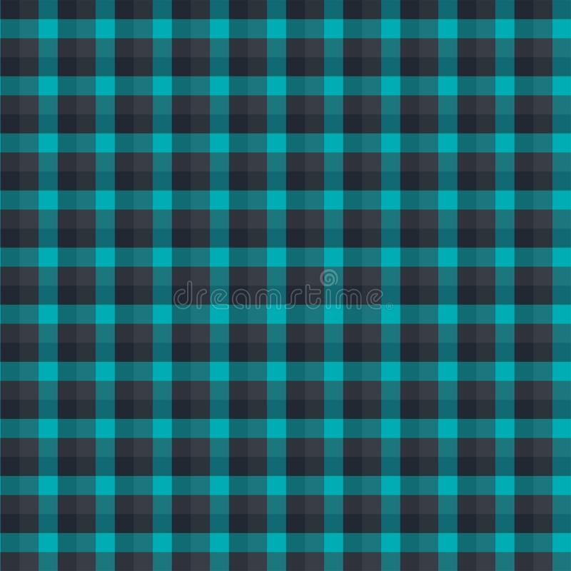 Gingham seamless forest and black pattern. Texture for plaid, tablecloths, clothes, shirts,dresses,paper,bedding,blankets,quilts. And other textile products stock illustration