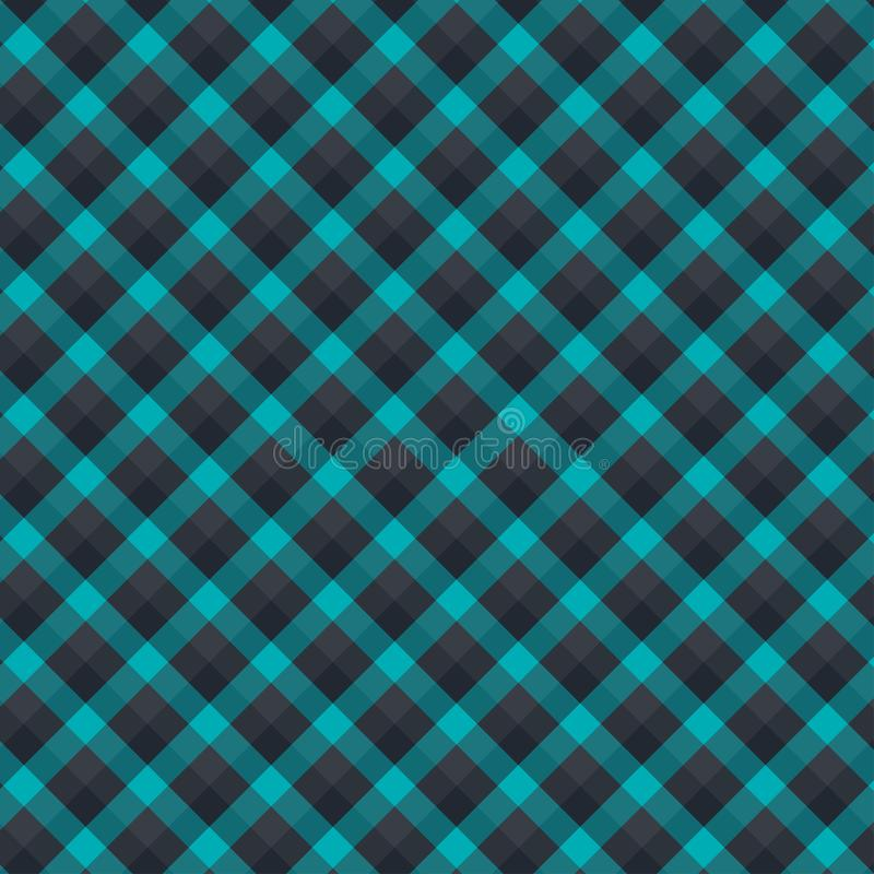 Gingham seamless forest and black pattern. Texture for plaid, tablecloths, clothes, shirts,dresses,paper,bedding,blankets,quilts. And other textile products royalty free illustration