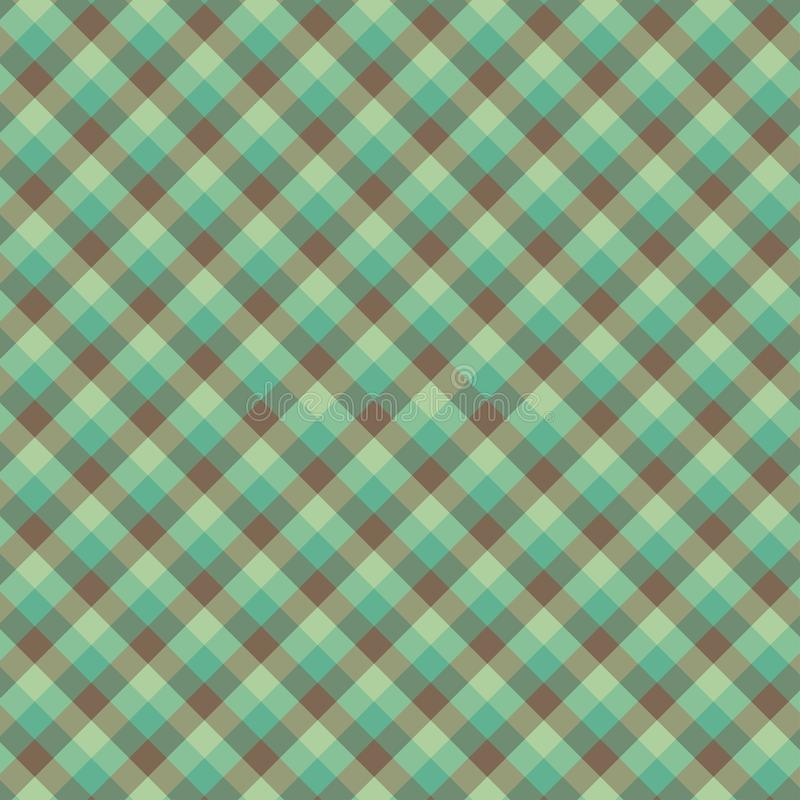 Gingham seamless green pattern. Texture for plaid, tablecloths, clothes, shirts,dresses,paper,bedding,blankets,quilts and other. Textile products. Vector stock illustration