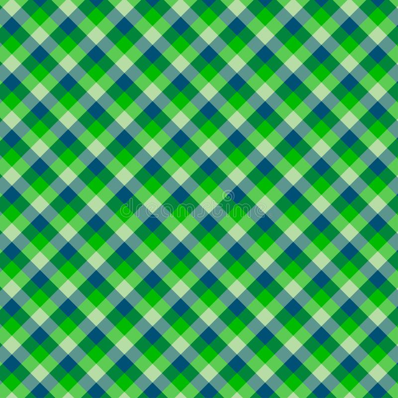 Gingham seamless green pattern. Texture for plaid, tablecloths, clothes, shirts,dresses,paper,bedding,blankets,quilts and other. Textile products. Vector royalty free illustration