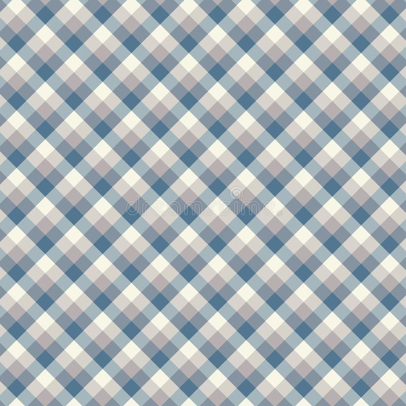 Gingham seamless light blue pattern. Texture for plaid, tablecloths, clothes, shirts,dresses,paper,bedding,blankets,quilts and. Other textile products. Vector stock illustration