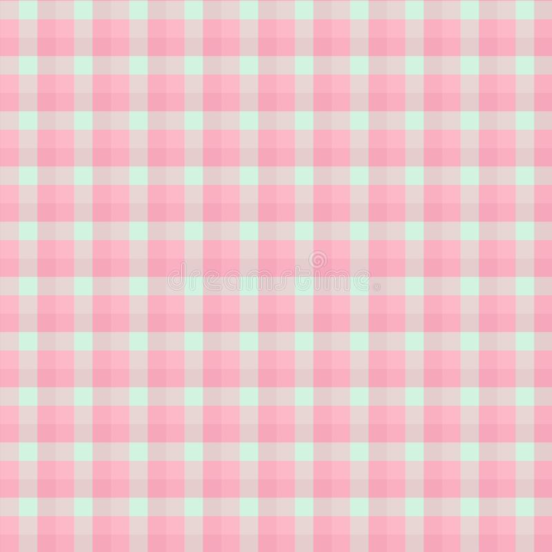 Gingham seamless light red pattern. Texture for plaid, tablecloths, clothes, shirts,dresses,paper,bedding,blankets,quilts and. Other textile products. Vector stock illustration