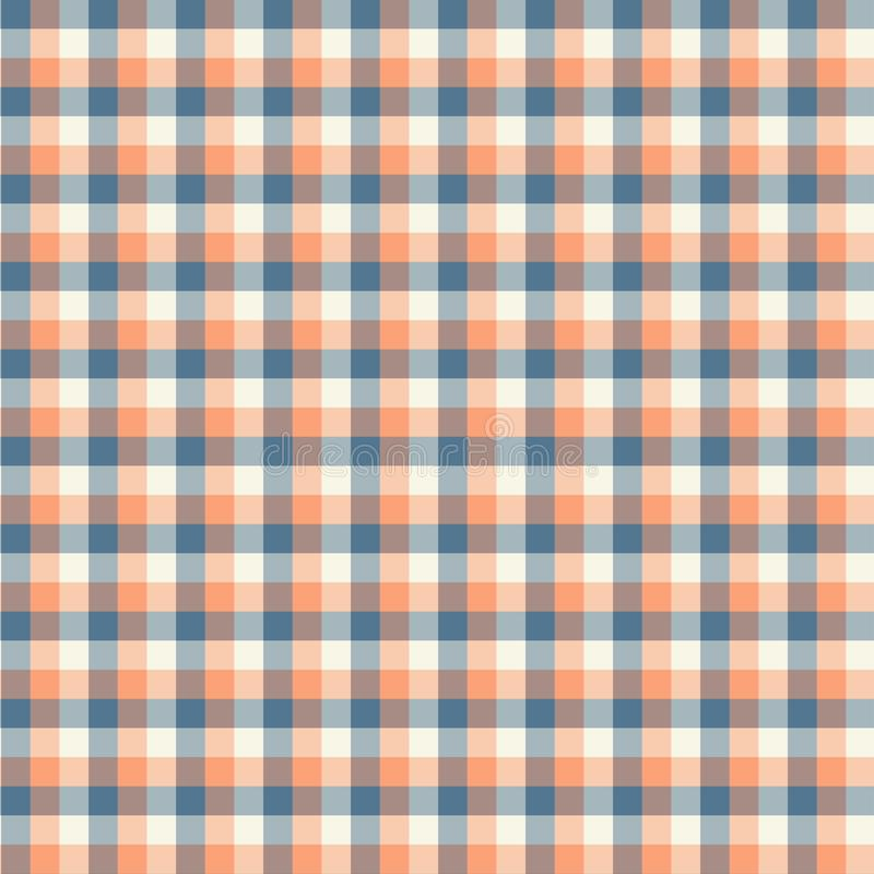 Gingham seamless orange pattern. Texture for plaid, tablecloths, clothes, shirts,dresses,paper,bedding,blankets,quilts and other. Textile products. Vector vector illustration