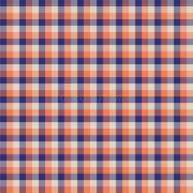 Gingham seamless orange pattern. Texture for plaid, tablecloths, clothes, shirts,dresses,paper,bedding,blankets,quilts and other. Textile products. Vector royalty free illustration