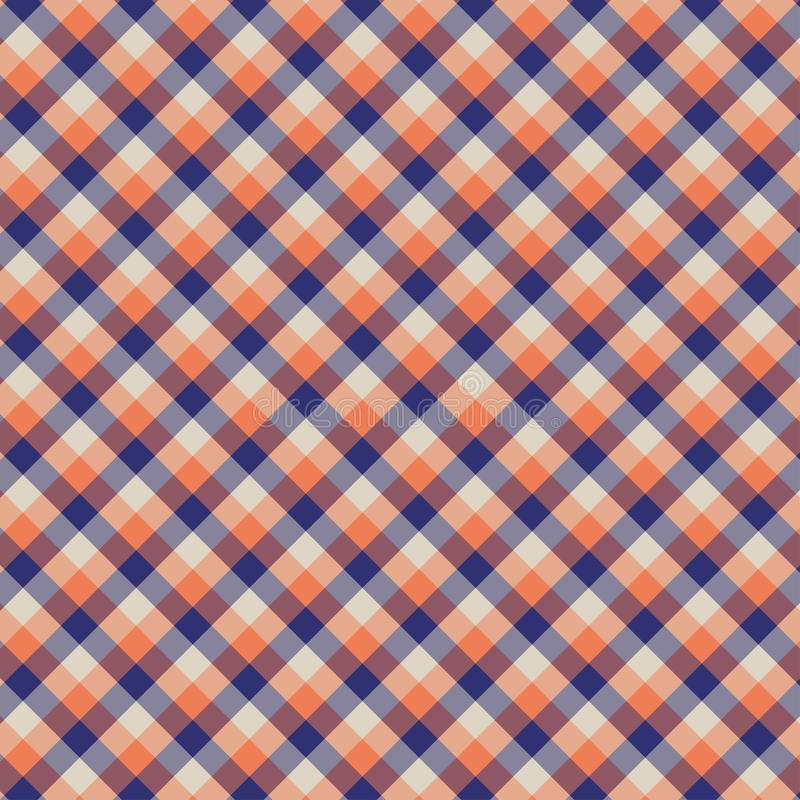 Gingham seamless orange pattern. Texture for plaid, tablecloths, clothes, shirts,dresses,paper,bedding,blankets,quilts and other. Textile products. Vector stock illustration